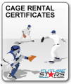 Cage Rental Gift Certificates-6 Pack of 1/2 Hour Cage Rentals